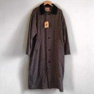 NEW Woolrich Wool Leather Trenchcoat Jacket Duster
